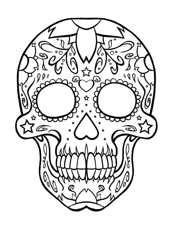736x969 Dia De Los Muertos Coloriages Sugar Skull Coloring Pages Printable