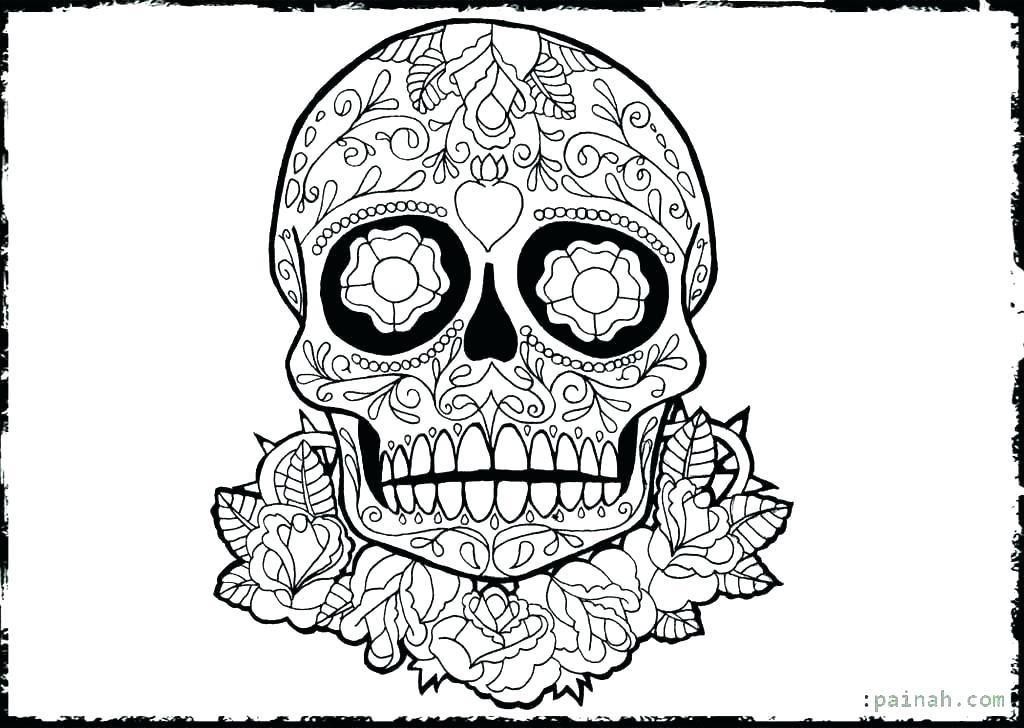 1024x728 Dia De Los Muertos Coloring Page Skull Coloring Pages Day