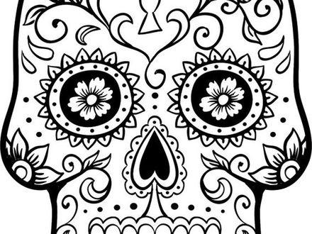 440x330 Dia De Los Muertos Skull Coloring Pages, Yucca Flats, Nm