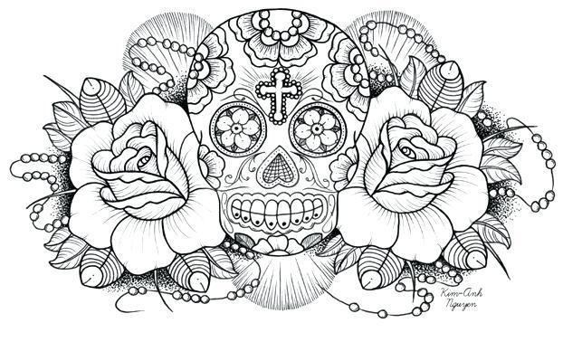 622x378 Dia De Los Muertos Skull Coloring Pages Skull Coloring Pages Day