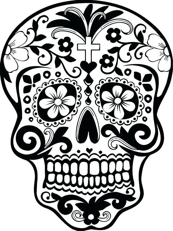 570x761 El Dia De Los Muertos Coloring Pages Skull Coloring Pages Day