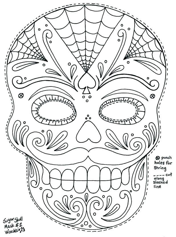 618x830 El Dia De Los Muertos Coloring Pages Skull Coloring Pages Free