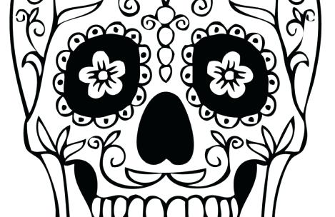 469x304 Skull Coloring Pages Simple Sugar Skull Coloring Pages Day