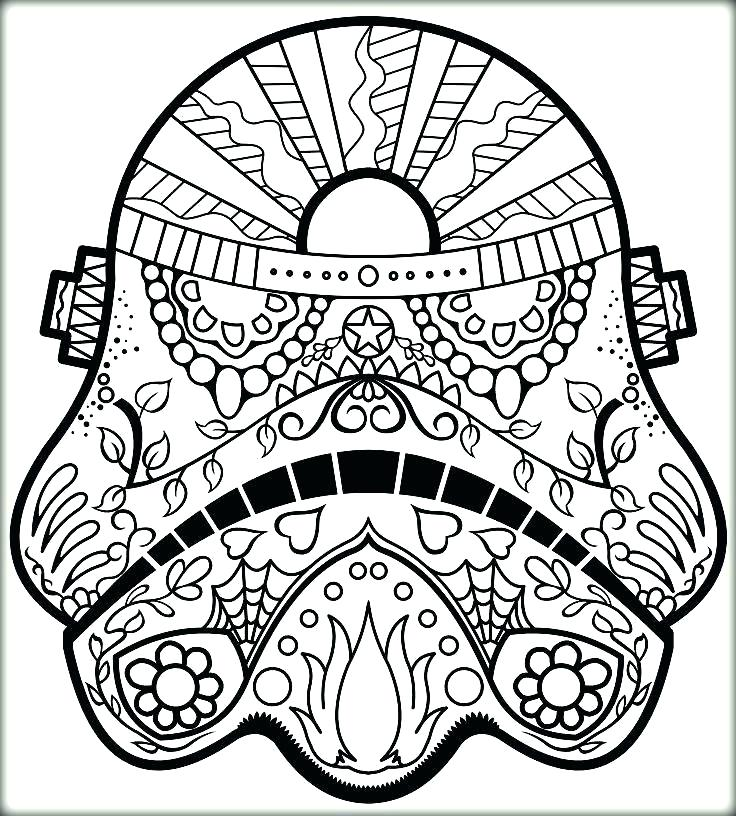 736x816 Sugar Skull Color Pages Day Of The Dead Skulls Coloring Pages