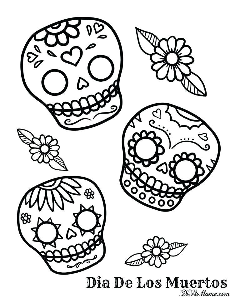 736x952 Dia De Los Muertos Coloring Page Devon Creamteas