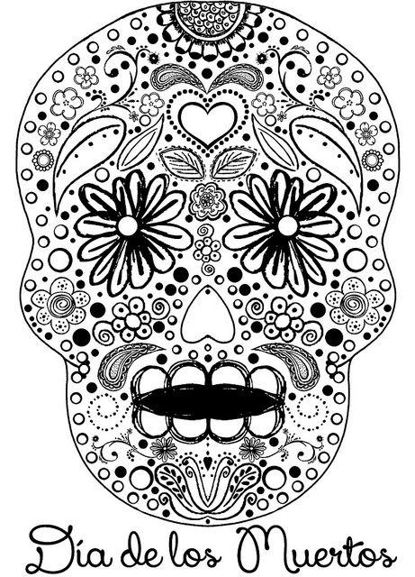 461x640 Sugar Skull Coloring Sheet Dia De Las Muertos, Mandalas Y Calaveras