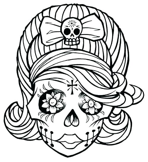 500x547 Day Of The Dead Skull Color Sheets Coloring Pages Owl Sugar Adult