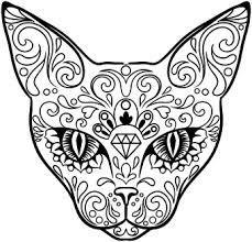 229x220 Dia De Los Muertos Skull Coloring Page Free Download