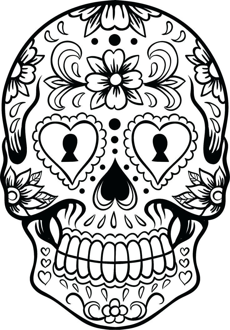 736x1056 Dia De Los Muertos Skull Coloring Pages Coloring Page Skull