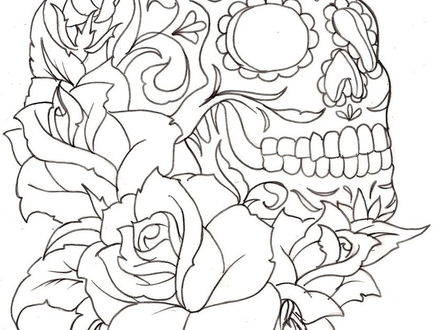 440x330 El Dia De Los Muertos Skulls Coloring Pages Az Coloring, El Dia De