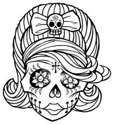 236x258 Sugar Skull Coloring Page Coloring Sheets Dia De