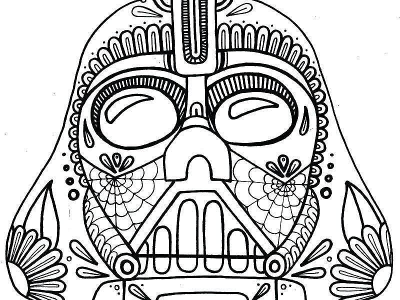 800x600 Dia De Los Muertos Skull Coloring Pages