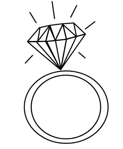 Diamond Ring Coloring Page