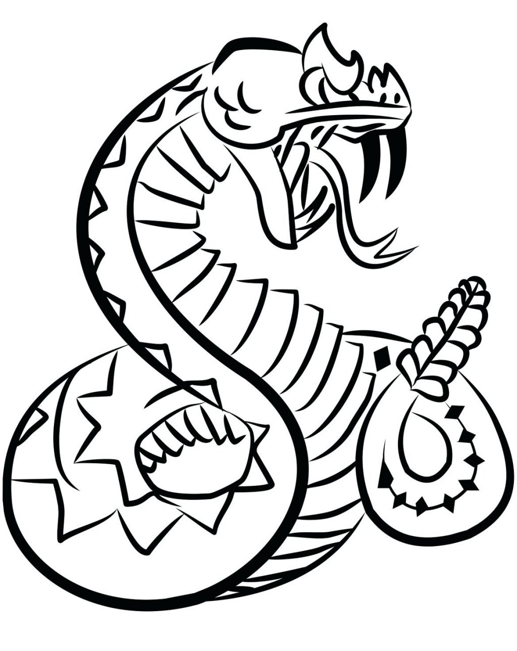 1024x1289 Coloring Page Rattlesnake Coloring Page Drawing Library Free