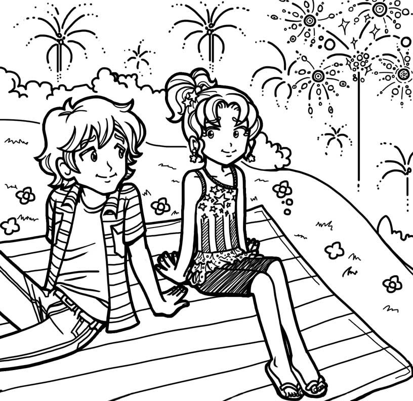 Diary Coloring Page