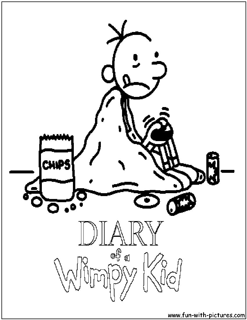 850x1100 Diary Of A Wimpy Kid Coloring Page In Diary Of A Wimpy Kid
