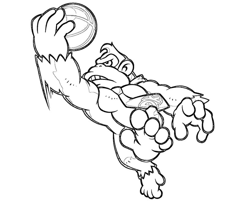 800x667 Donkey Kong And Diddy Kong Coloring Page Free Download