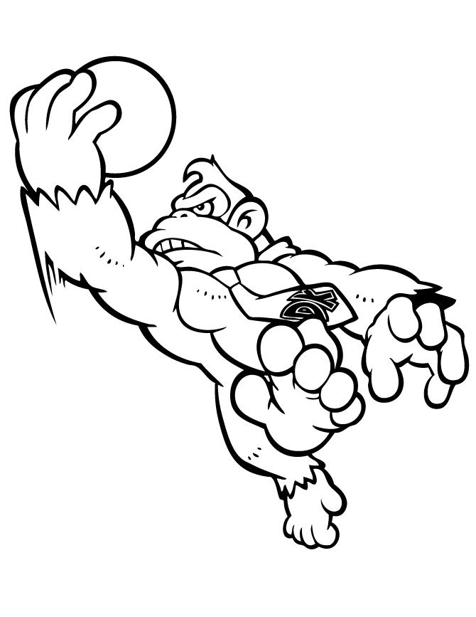 670x867 Donkey Kong Coloring Page