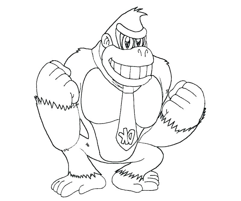 800x667 Donkey Kong Coloring Page Complete Donkey Coloring Pages Kids