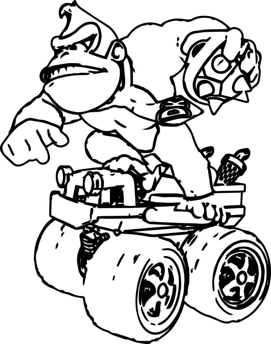 918x1166 Donkey Kong Coloring Pages Coloringsuite Com