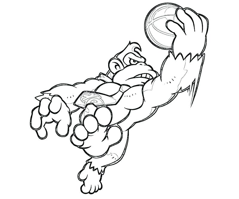 800x667 Donkey Kong Coloring Pages To Print Donkey Coloring Page Free