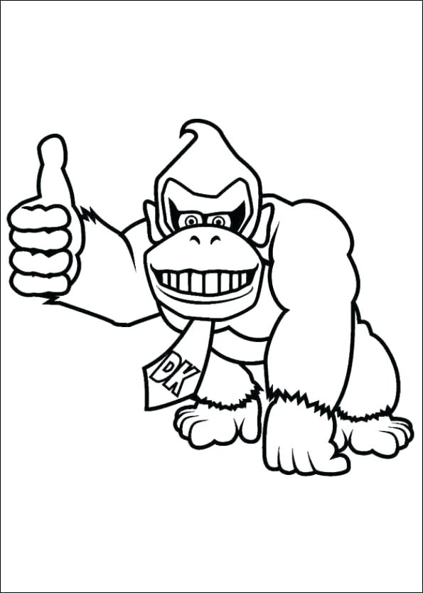 595x834 Donkey Kong Coloring Pages To Print Free Printable Coloring Page