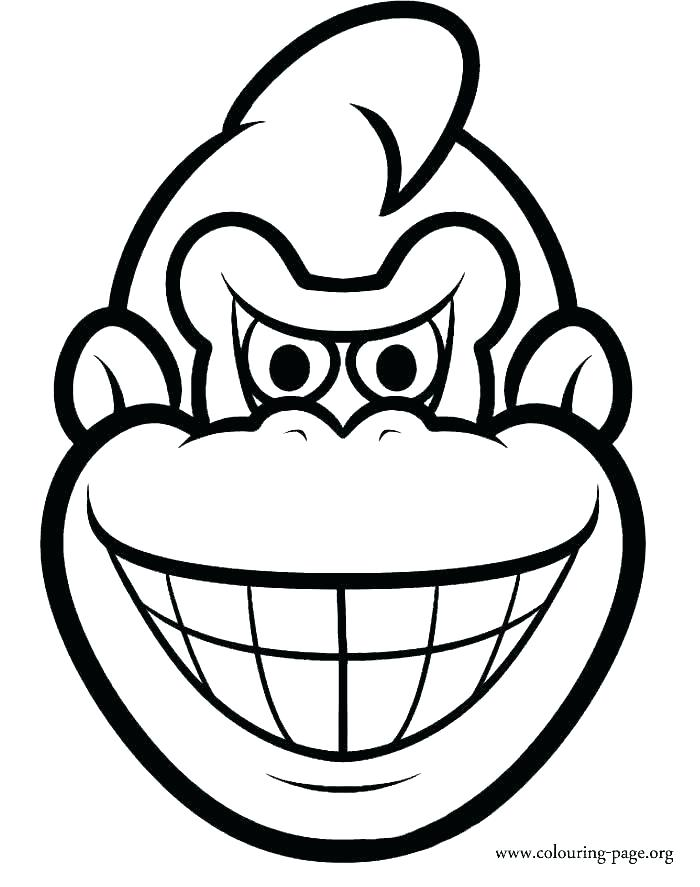 700x887 Diddy Kong Coloring Pages