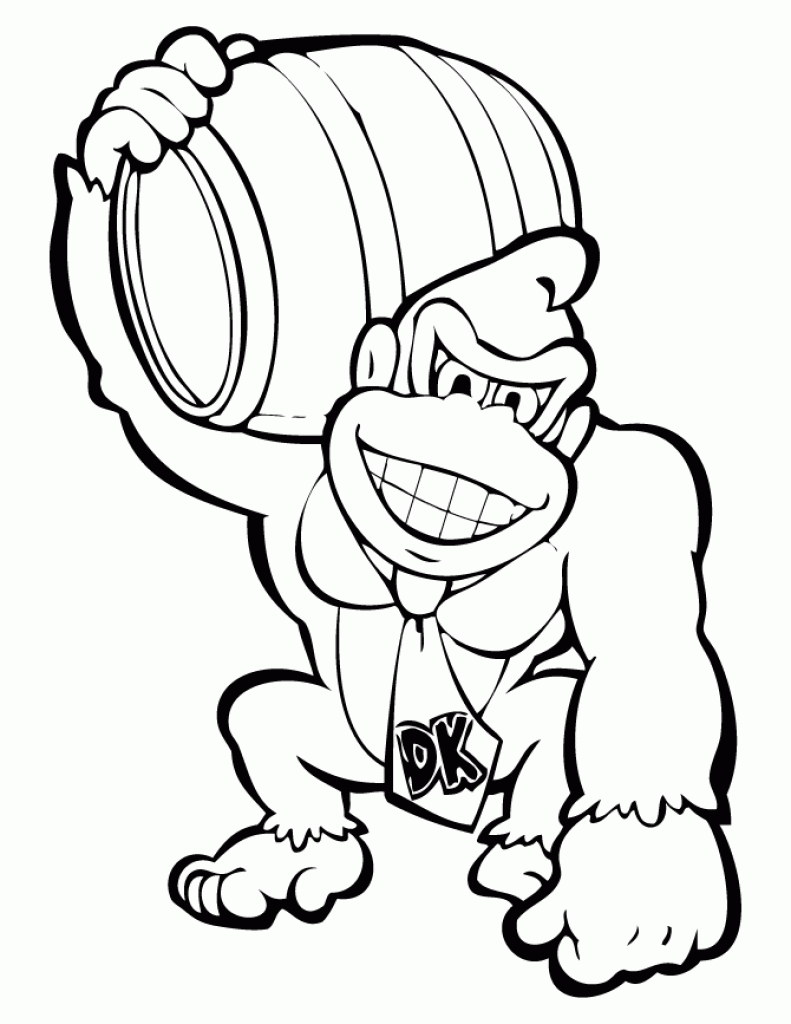 791x1024 Donkey Kong Coloring Pages Country Returns Page Free Printable