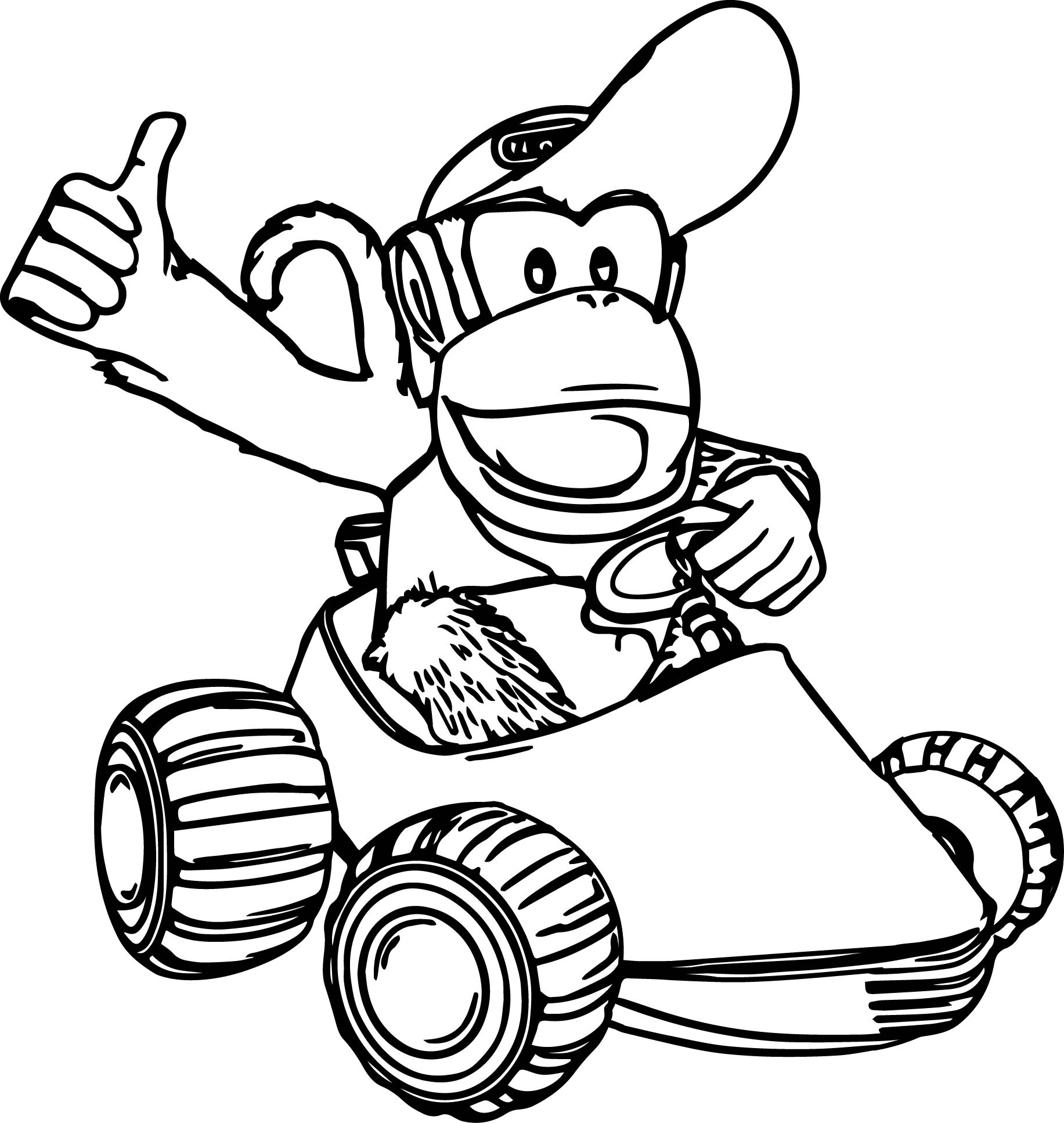 1833x1934 Diddy Kong Coloring Pages Printable Free Coloring Sheets