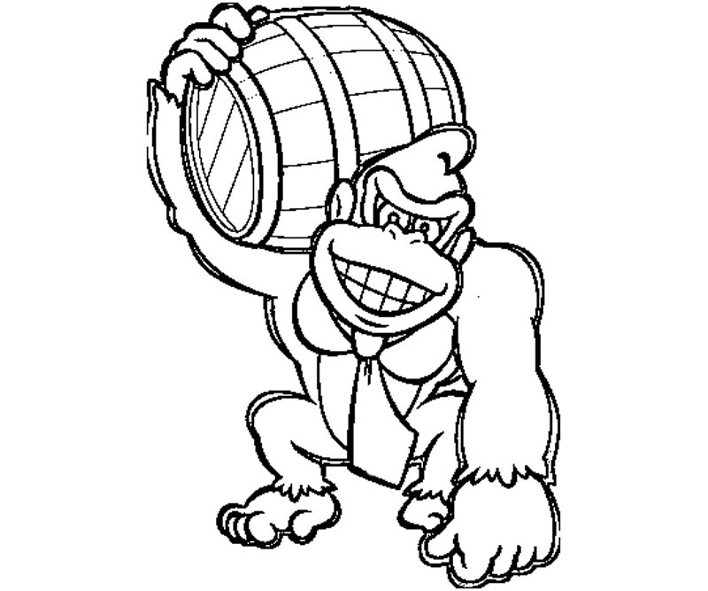 800x667 Dk Coloring Pages Fancy Donkey Kong Coloring Pages In Seasonal