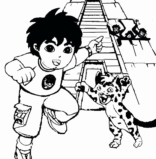 600x614 Diego Coloring Pages Pictures Diego Coloring Pages Coloring Pages