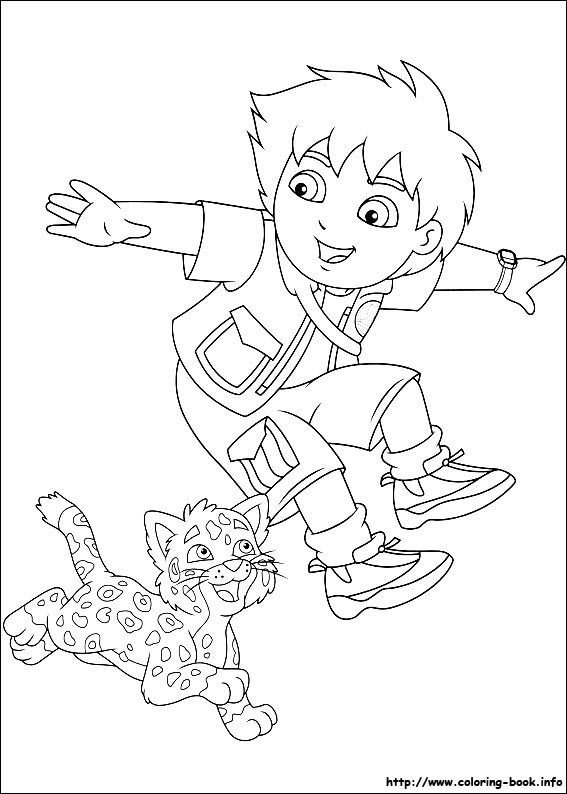 567x794 Diego Coloring Pages