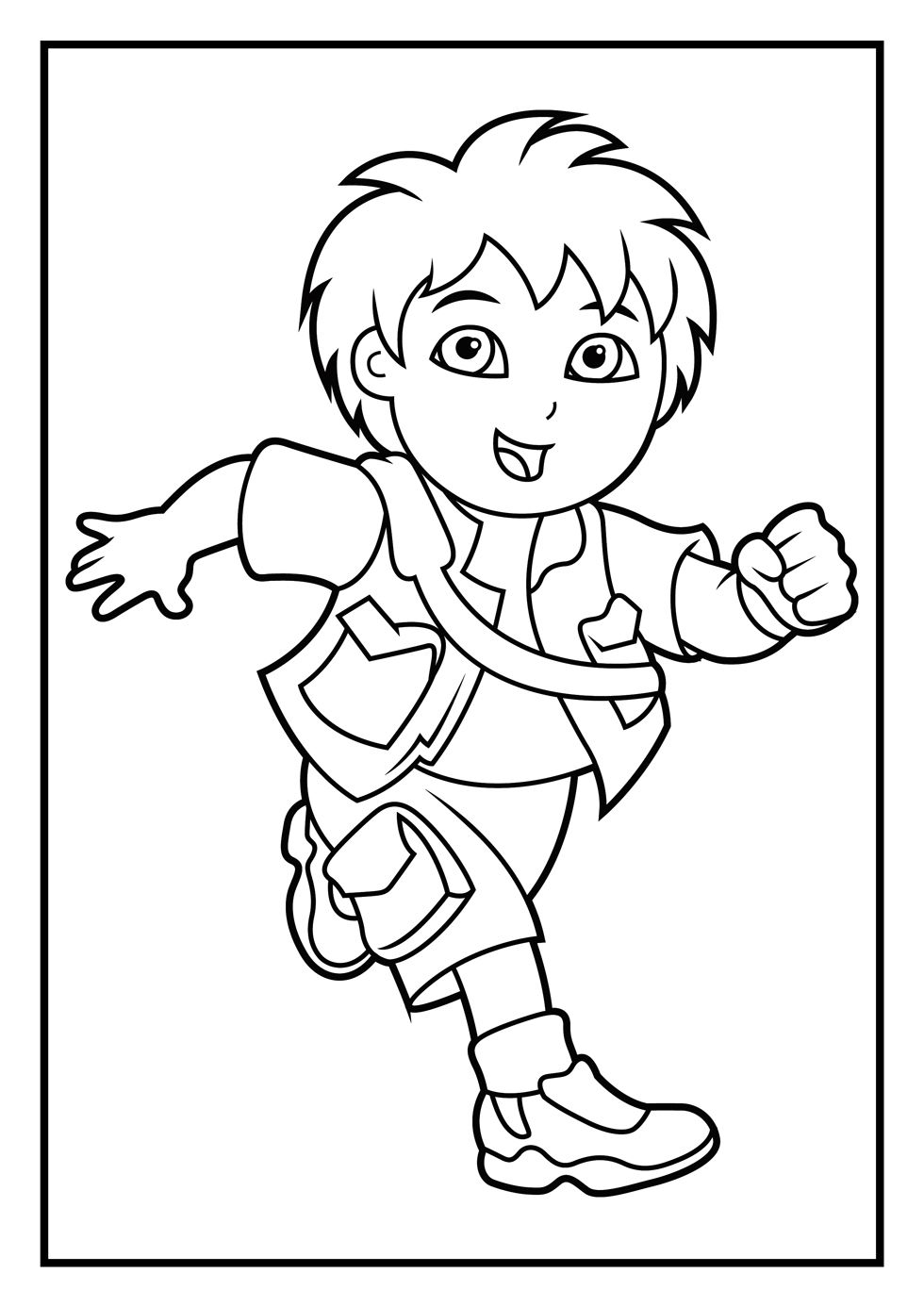 980x1386 Dora And Diego Coloring Pages, Diego Coloring Pages Decoraciones