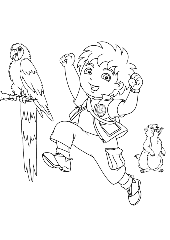 595x842 Free Printable Diego Coloring Pages For Kids