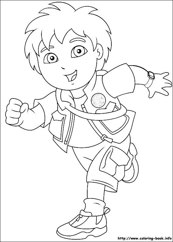 567x794 Go, Diego, Go! Coloring Picture Coloring Pages