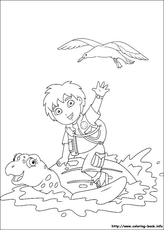 567x794 Go, Diego, Go! Coloring Picture Lena Bday Party Ideas