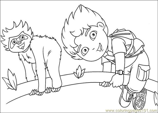 650x464 Diego Coloring Page