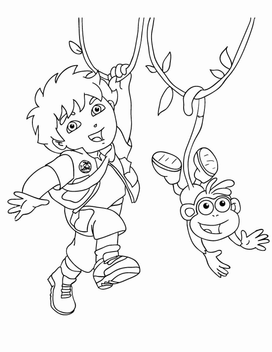 927x1200 Printable Diego Coloring Pages Printable Dora Coloring Pages
