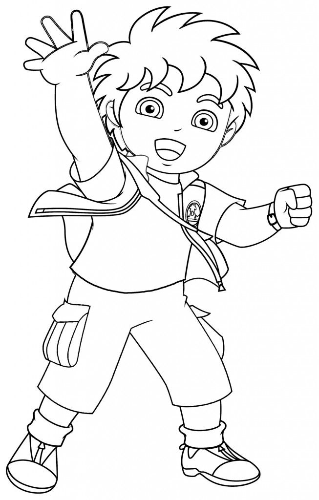 653x1024 Awesome Diego Free Coloring Pages Printable Colouring Pages
