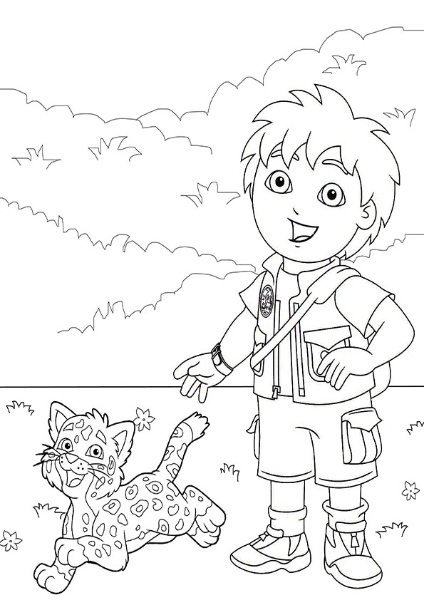 595x842 Go Diego Go Coloring Page Dora Birthday Ideas