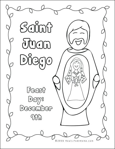 464x600 Diego Coloring Page Our Lady Of And Worksheet Packet Diego