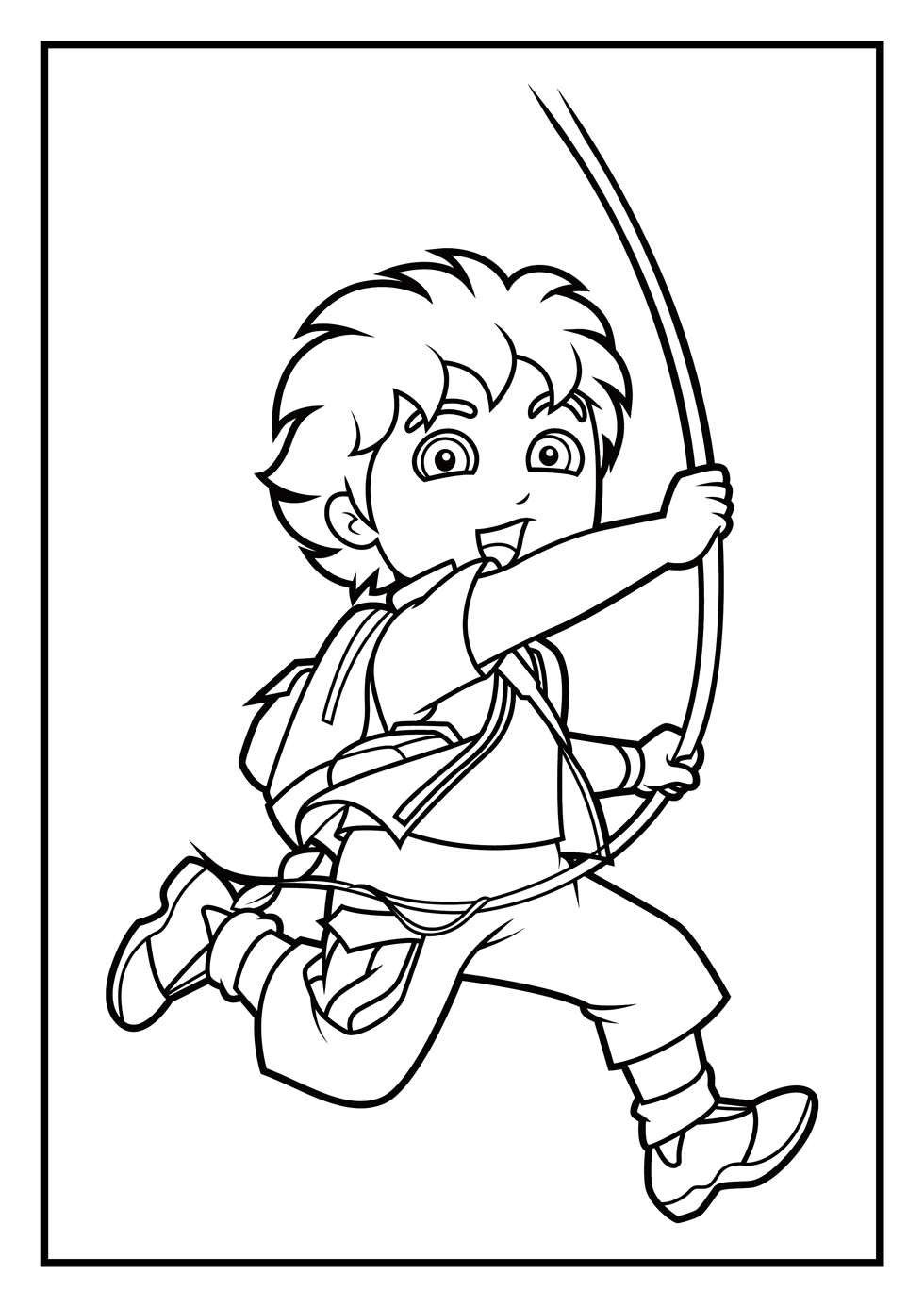 980x1386 Diego Coloring Pages