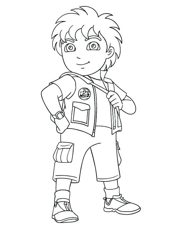 600x776 Diego Coloring Pages Go Coloring Pages Years Old Boy In Page