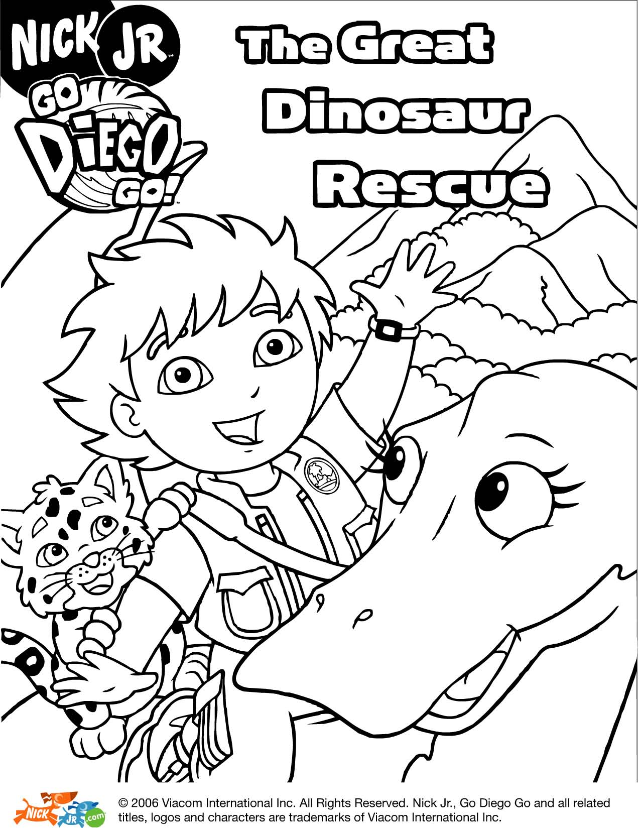 1275x1649 Diego Coloring Pages Great Dinosaur Rescue