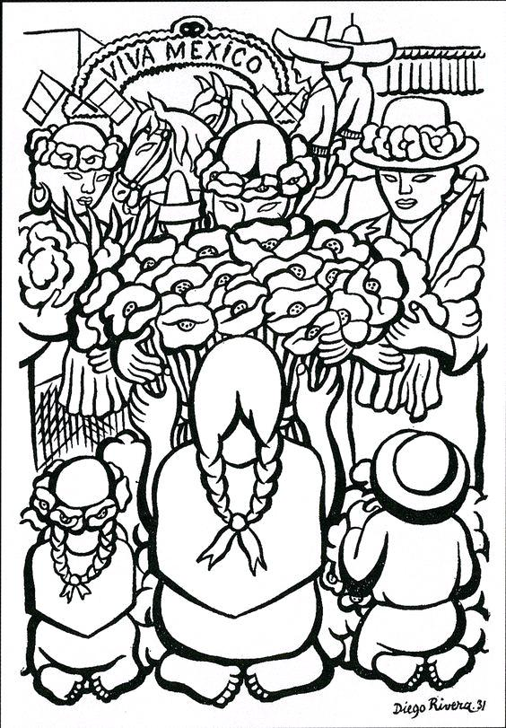 564x811 Diego Rivera Coloring Pages Diego Rivera Coloring Pages Roots