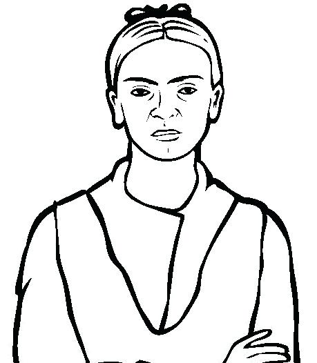 459x526 Diego Rivera Coloring Pages Free Famous People Coloring Pages