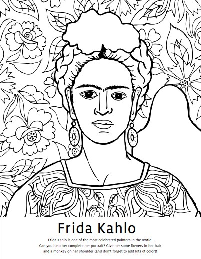 403x518 Diego Rivera Coloring Pages Frida Kahlo Coloring Pages Studio