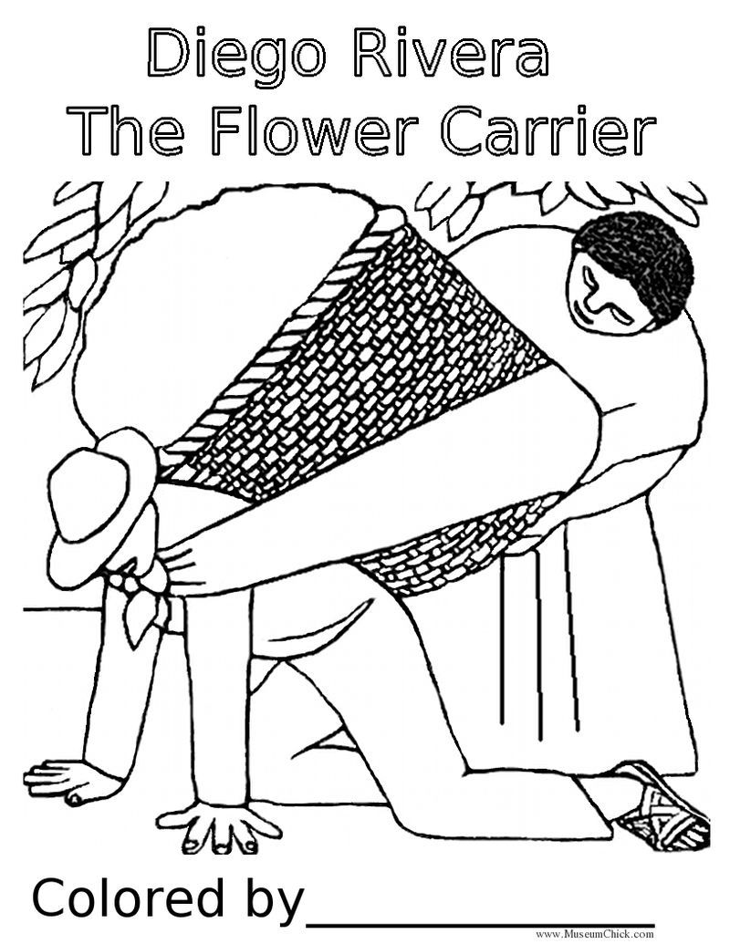 800x1035 Diego Rivera Inspired For Kids Diego Rivera The Flower Carrier
