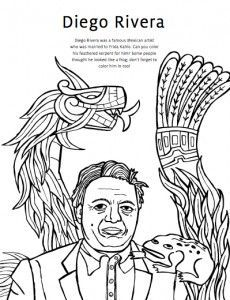 230x300 Diego Rivera Coloring Page For Kids Diego Rivera