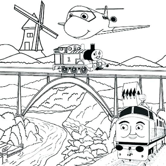 550x550 Diesel Train Coloring Pages The Train Coloring Pages Free Summer